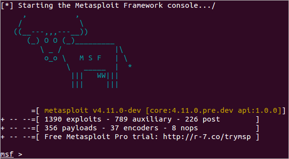Metasploit-Framework working screenshot